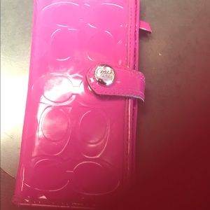 Coach Jelly Wallet Magenta